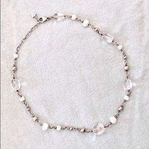 SILPADA Silver, Pearl, and Quartzite Necklace!